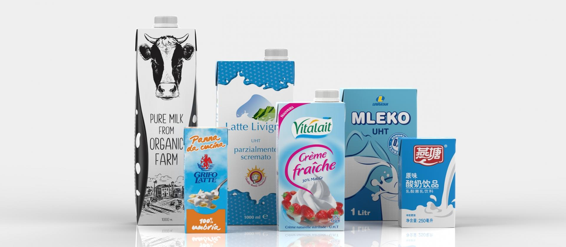 UHT Milk and Dairy products filled in IPI aseptic carton packaging