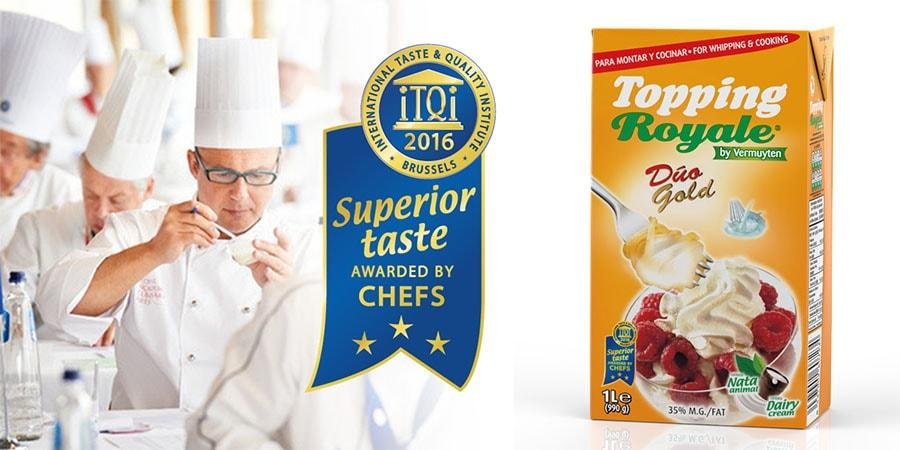 Vermuyten has won the Superior Taste Award with its Topping Royale Duo Gold cream