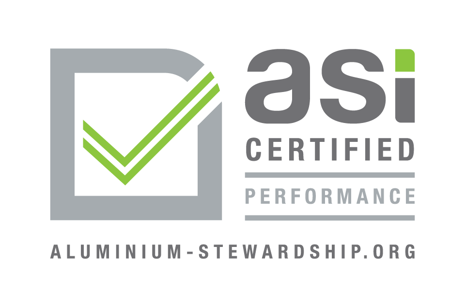 IPI aluminium is certified ASI